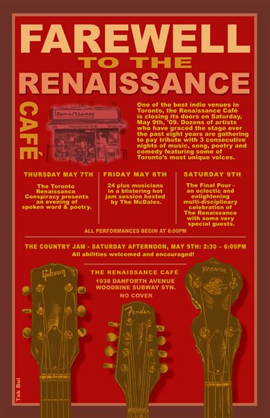 Renaissance Cafe Farewell Poster - click for larger image