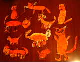 Cats students created for Norm in response to his book, click for larger image