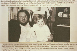 Photo - Norm and son Ben from album liner notes
