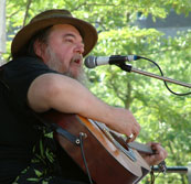 Photo - Norm at festival in Mel Lastman Square, June 2003; hi res available